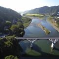 新小倉橋から旧小倉橋、および相模川を望む