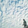 観音様と雲