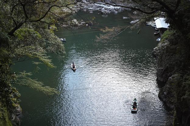 高千穂峡、ボート乗り場