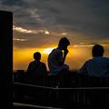 Photos: 夕陽、シルエット