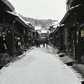 飛騨高山の、古い風情の街並み