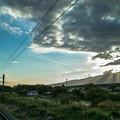 Sky,Clouds,Mountain,Sunshine & Railway
