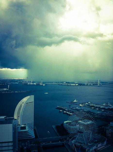 Photos: ゲリラ豪雨の境目(爆)