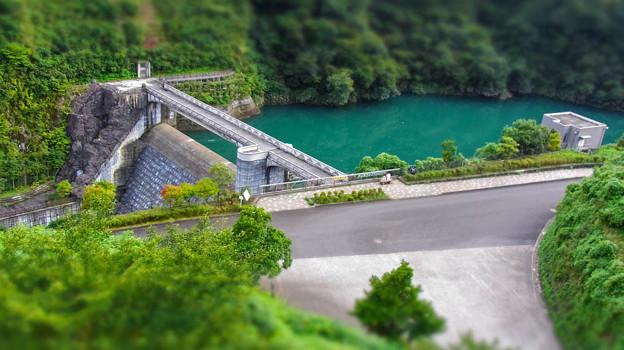 Photos: 宮ヶ瀬湖の副ダムの石小屋ダムdiorama