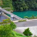 宮ヶ瀬湖の副ダムの石小屋ダムdiorama