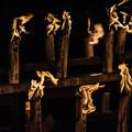 一人一人の名前の蝋燭@大阪四天王寺のお盆2012