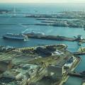 Photos: 赤レンガ倉庫,大桟橋,ベイブリッジの位置関係