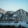冬の越後湯沢付近