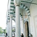 東京ジャーミイの礼拝堂の玄関横から