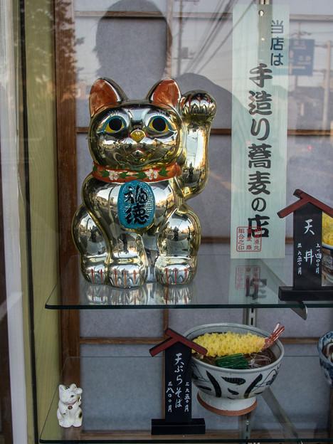 Photos: 金色の招き猫@左手揚げ招き猫8