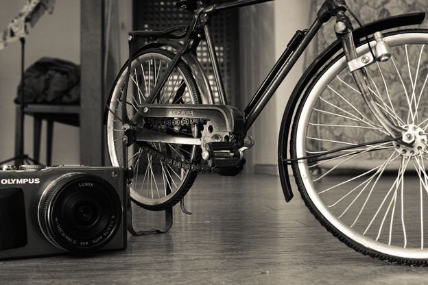 Photos: 自転車のミニチュア@カメラと一緒に1