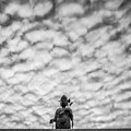 うろこ雲を従えた観音様1