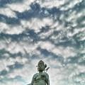 うろこ雲を従える観音様3