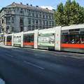 ウィーン市内のトラム