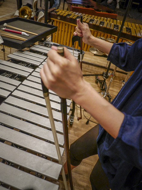 Photos: Vibraphoneは叩くだけじゃないよ(爆)