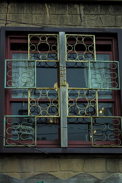 中国風の窓枠
