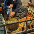 飛騨古川の和蝋燭の工房にて