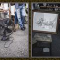 黒い扇風機と足場板製椅子@第三回東京蚤の市;2013春-50