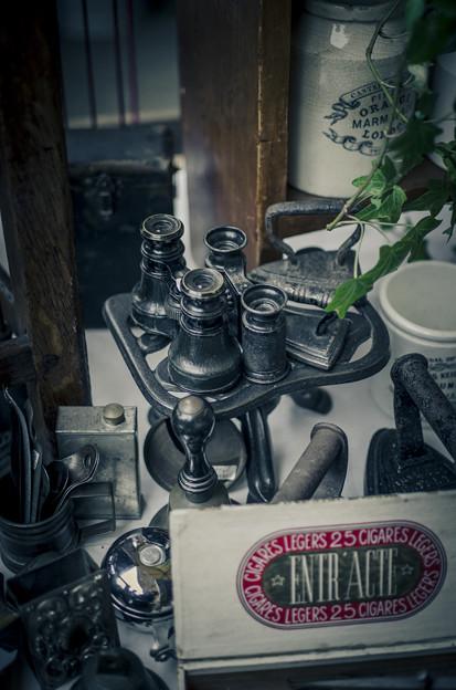 双眼鏡とアイロン@第四回東京蚤の市;2013秋