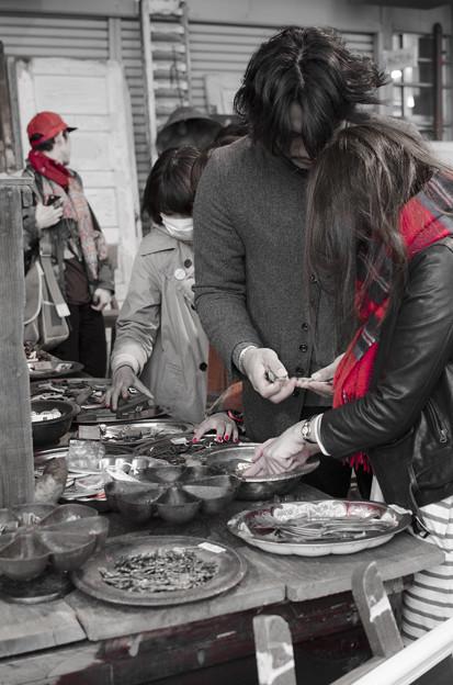 赤い爪、赤いマフラー、赤い帽子@第四回東京蚤の市;2013秋