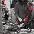 Photos: 赤い爪、赤いマフラー、赤い帽子@第四回東京蚤の市;2013秋