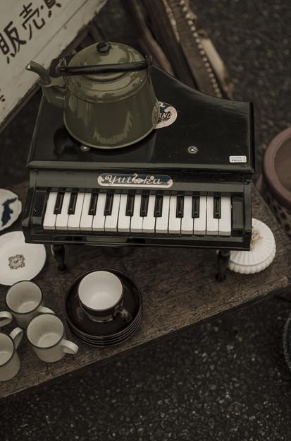 ピアノと薬缶@第四回東京蚤の市;2013秋