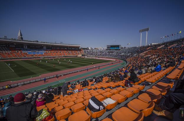 Photos: 快晴の国立競技場、僕にとって最後の訪問