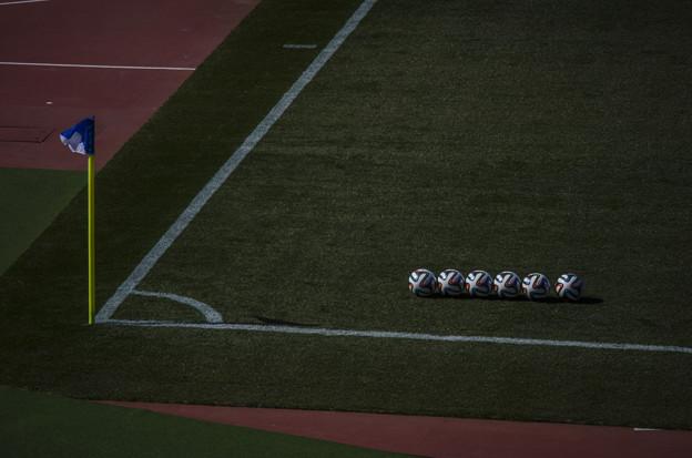 Photos: 整列したボールたち