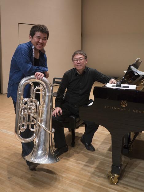 Photos: Tubaの古本大志君と1