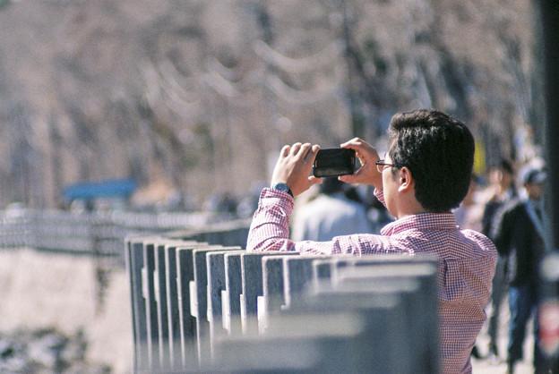 撮るおじさん@山中湖