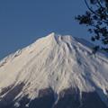 雲がかかってない富士山