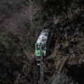 神奈川県の大山のケーブルカー