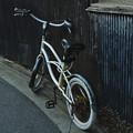 Photos: トタンの壁と白い自転車