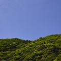 掛川の山、空