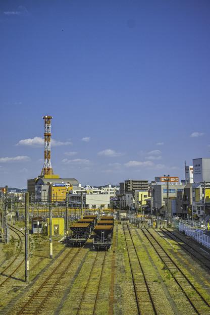 Photos: まっすぐ伸びた線路と蛇行する線路@JR八王子駅