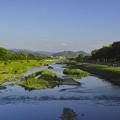 賀茂川、京都駅方面を俯瞰