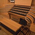 京都コンサートホールのパイプオルガンのコンソール
