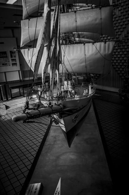 Photos: 帆船日本丸の舳先@模型版