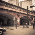 Photos: 有楽町駅高架の煉瓦と円形の装飾
