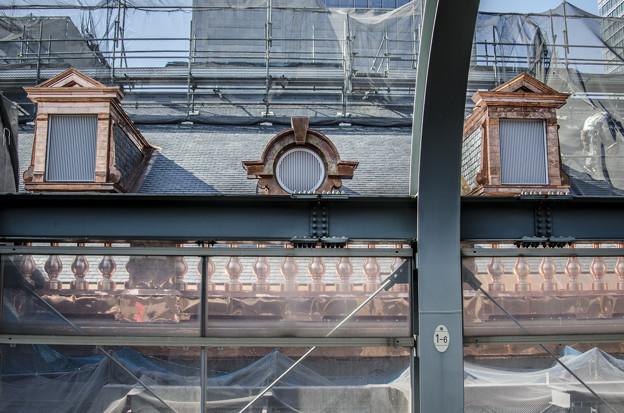 Photos: 公開前の東京駅、まだ銅色をしていた頃