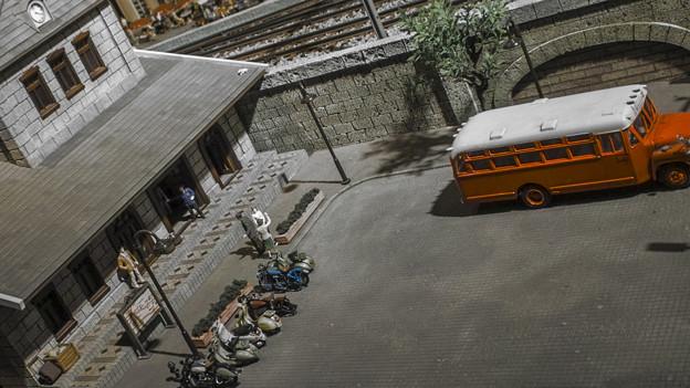Photos: 駅前広場@原鉄道模型博物館にて