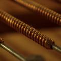 巻き線、つまりピアノの低音弦