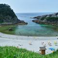 東京都だってこんな奇麗な海があるんだ、、式根島、泊海岸