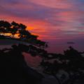 東京、式根島のぐんじ山展望台からの日の出