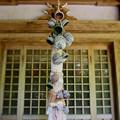 新島の神社にて
