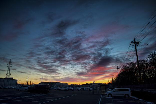 Photos: 写真の中央付近の雲が節分の鬼の面に見えた(爆)