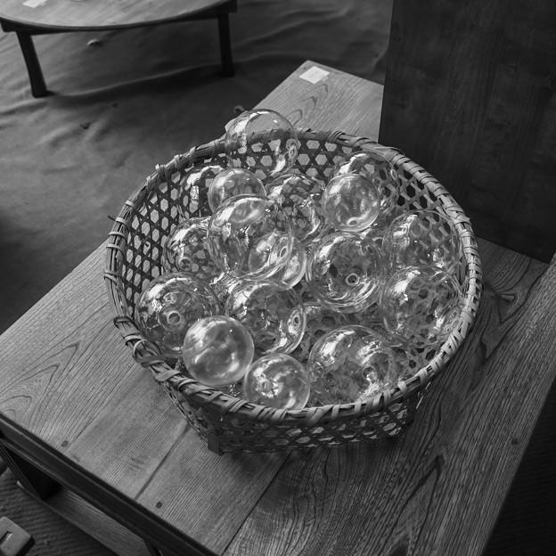 ガラスの光沢と透明感、、@第六回東京蚤の市;2014秋