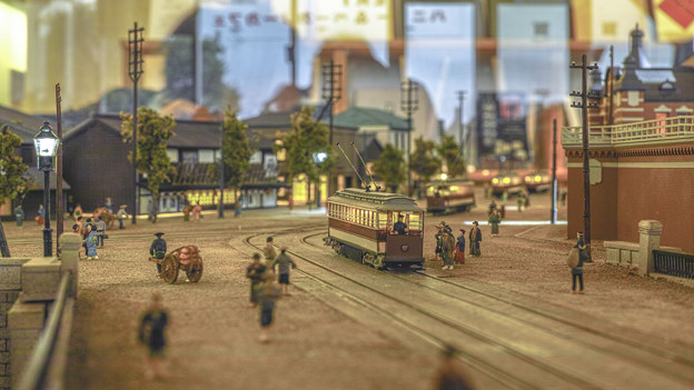 旧万世橋駅付近の路面電車
