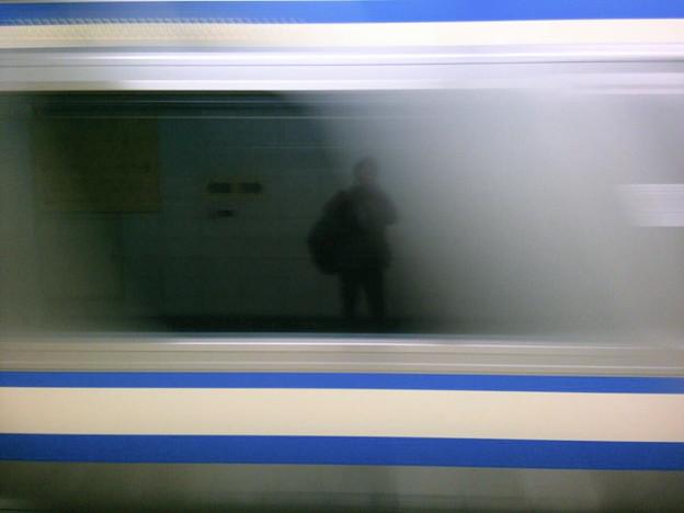 Photos: 車窓に映る、セルフィ