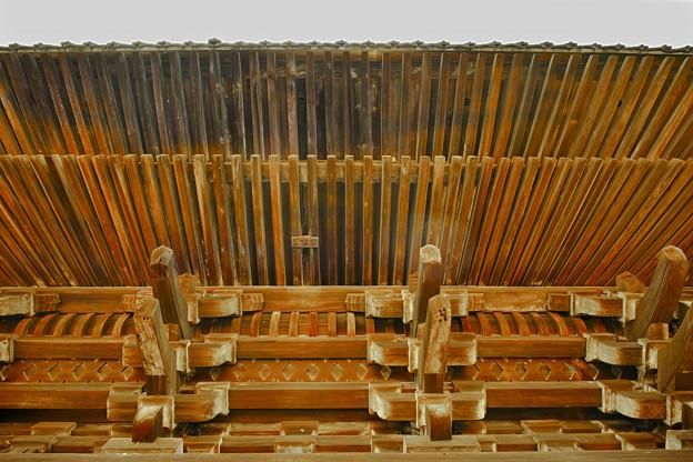 写真: 木組み